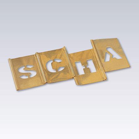 Schabloner sammansättbara alfabet - siffror