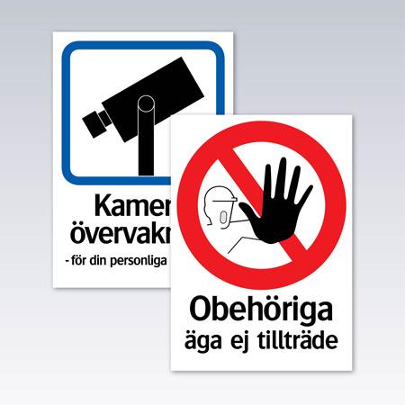 Förbud och påbudsskyltar